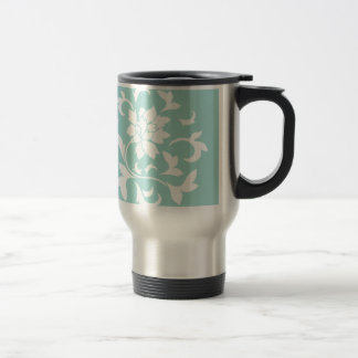 Oriental Flower - Limpet Shell Circular Pattern Travel Mug