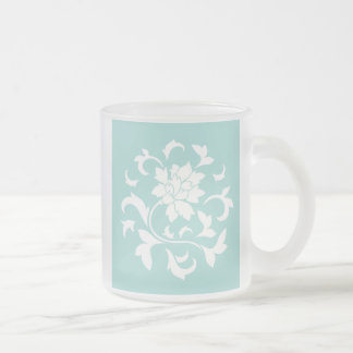 Oriental Flower - Limpet Shell Frosted Glass Coffee Mug