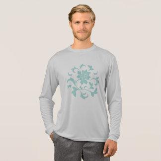 Oriental Flower-Limpet Shell-Gray T-Shirt
