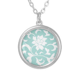 Oriental Flower - Limpet Shell Silver Plated Necklace