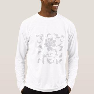 Oriental Flower-Limpet Shell-Silver T-Shirt