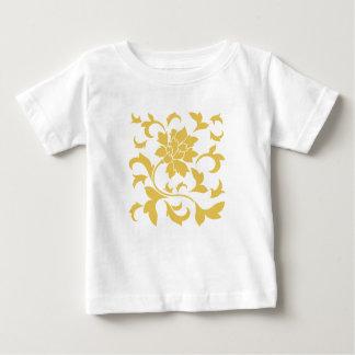 Oriental Flower - Mustard Yellow Baby T-Shirt