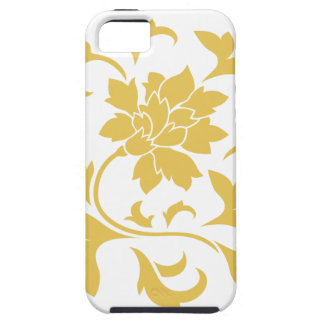 Oriental Flower - Mustard Yellow Circular Pattern iPhone 5 Cover