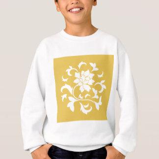 Oriental Flower - Mustard Yellow Circular Pattern Sweatshirt