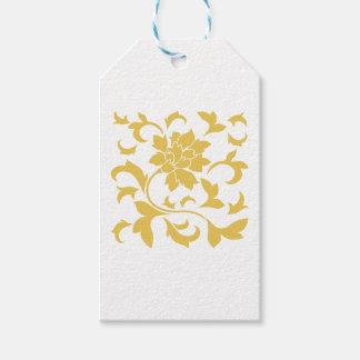 Oriental Flower - Mustard Yellow Gift Tags