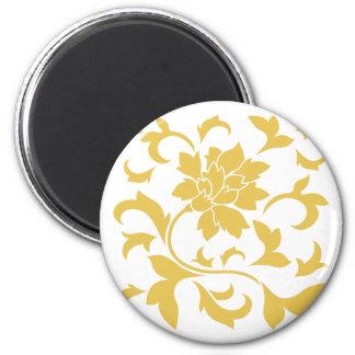 Oriental Flower - Mustard Yellow Magnet
