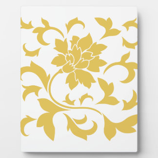 Oriental Flower - Mustard Yellow Plaque