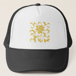 Oriental Flower - Mustard Yellow Trucker Hat