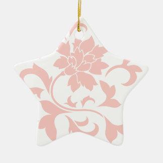 Oriental Flower - Rose Quartz Ceramic Ornament