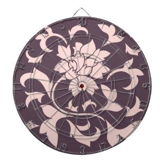 Oriental Flower - Rose Quartz & Cherry Chocolate Dartboard