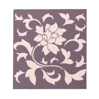 Oriental Flower - Rose Quartz & Cherry Chocolate Notepad