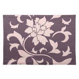 Oriental Flower - Rose Quartz & Cherry Chocolate Placemat