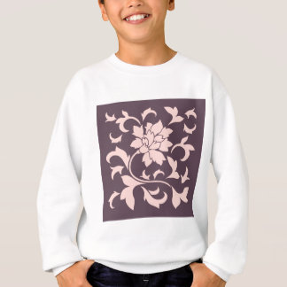 Oriental Flower - Rose Quartz & Cherry Chocolate Sweatshirt