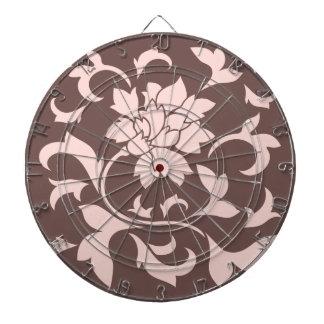 Oriental Flower - Rose Quartz & Chocolate Dartboard