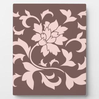 Oriental Flower - Rose Quartz & Chocolate Plaque