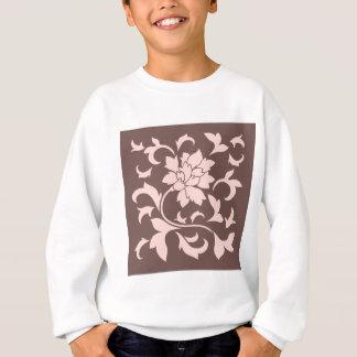 Oriental Flower - Rose Quartz & Chocolate Sweatshirt