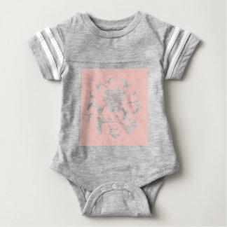 Oriental Flower - Rose Quartz Circular Pattern Baby Bodysuit