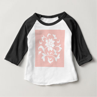 Oriental Flower - Rose Quartz Circular Pattern Baby T-Shirt