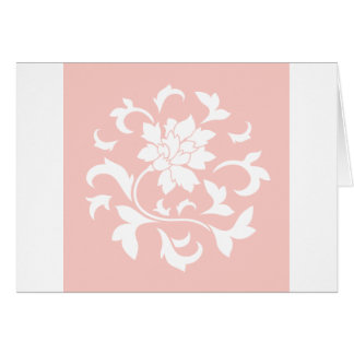 Oriental Flower - Rose Quartz Circular Pattern Card
