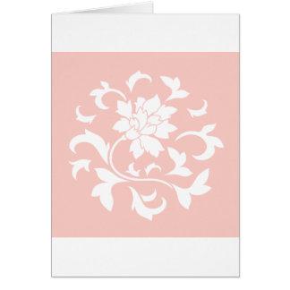 Oriental Flower - Rose Quartz Circular Pattern Card