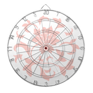 Oriental Flower - Rose Quartz Circular Pattern Dartboard
