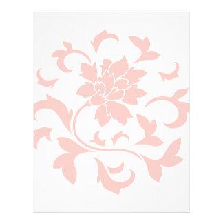 Oriental Flower - Rose Quartz Circular Pattern Letterhead