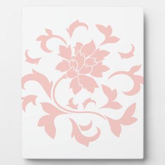 Oriental Flower - Rose Quartz Circular Pattern Plaque