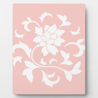 Oriental Flower - Rose Quartz Circular Pattern Plaque
