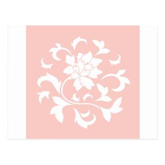 Oriental Flower - Rose Quartz Circular Pattern Postcard