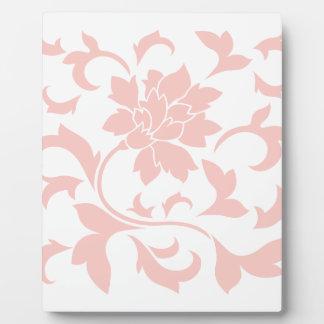 Oriental Flower - Rose Quartz Plaque