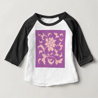 Oriental Flower - Rose Quartz & Radiant Orchid Baby T-Shirt
