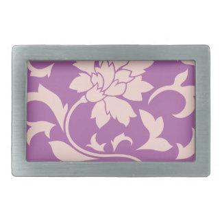 Oriental Flower - Rose Quartz & Radiant Orchid Belt Buckle