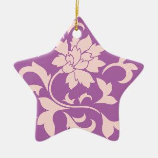 Oriental Flower - Rose Quartz & Radiant Orchid Ceramic Ornament