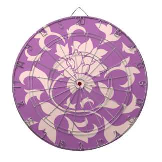 Oriental Flower - Rose Quartz & Radiant Orchid Dartboard