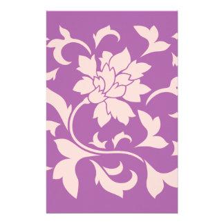 Oriental Flower - Rose Quartz & Radiant Orchid Stationery