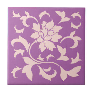 Oriental Flower - Rose Quartz & Radiant Orchid Tile