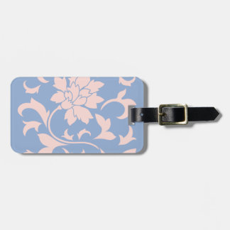 Oriental Flower - Rose Quartz & Serenity Blue Luggage Tag