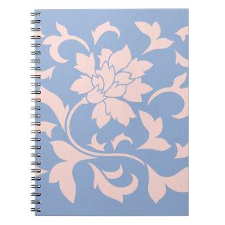 Oriental Flower - Rose Quartz & Serenity Blue Notebook