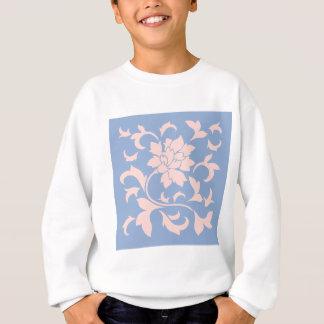 Oriental Flower - Rose Quartz & Serenity Blue Sweatshirt