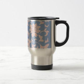 Oriental Flower - Rose Quartz & Serenity Blue Travel Mug