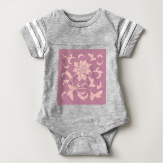 Oriental Flower - Rose Quartz & Strawberry Baby Bodysuit