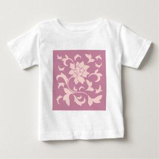 Oriental Flower - Rose Quartz & Strawberry Baby T-Shirt