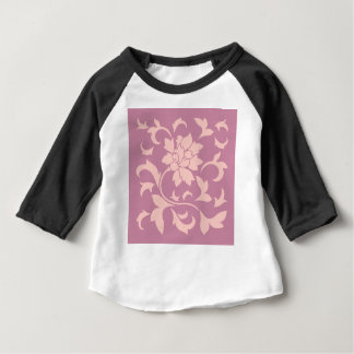 Oriental Flower - Rose Quartz & Strawberry Baby T-Shirt