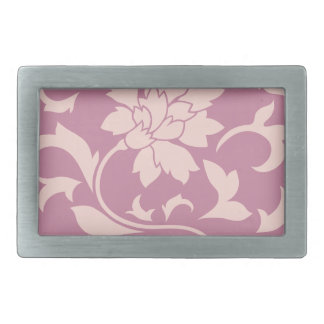 Oriental Flower - Rose Quartz & Strawberry Belt Buckles