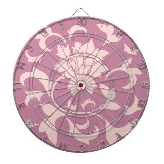 Oriental Flower - Rose Quartz & Strawberry Dartboard