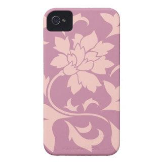 Oriental Flower - Rose Quartz & Strawberry iPhone 4 Case
