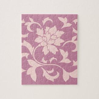 Oriental Flower - Rose Quartz & Strawberry Jigsaw Puzzle