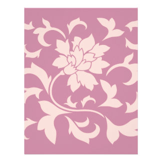 Oriental Flower - Rose Quartz & Strawberry Letterhead