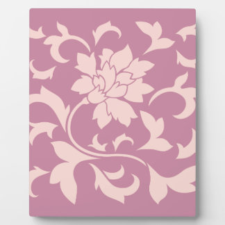 Oriental Flower - Rose Quartz & Strawberry Plaque