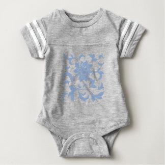 Oriental Flower - Serenity Blue Baby Bodysuit